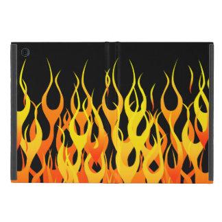 Classic Racing Flames Pin Stripes on Black Case For iPad Mini