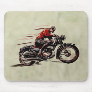 CLASSIC RACING MOTORCYCLE. MOUSE PAD