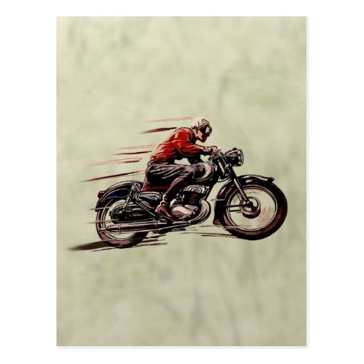 CLASSIC RACING MOTORCYCLE. POST CARDS