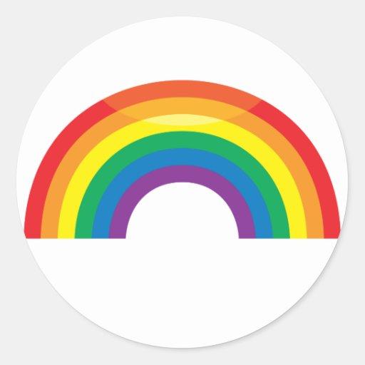 Classic Rainbow Round Sticker
