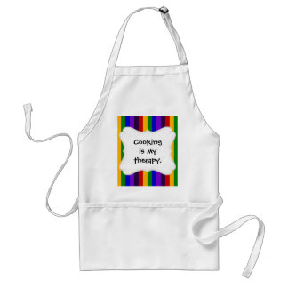 Classic Rainbow Vertical Stripes Colorful Gifts Adult Apron