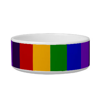 Classic Rainbow Vertical Stripes Colorful Gifts Bowl