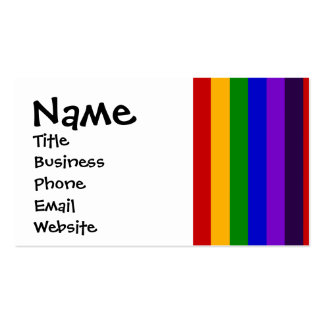 Classic Rainbow Vertical Stripes Colorful Gifts Business Cards