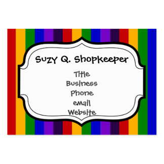 Classic Rainbow Vertical Stripes Colorful Gifts Business Card