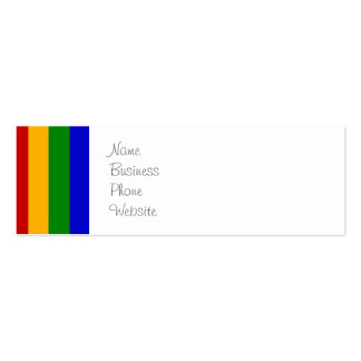 Classic Rainbow Vertical Stripes Colorful Gifts Double-Sided Mini Business Cards (Pack Of 20)