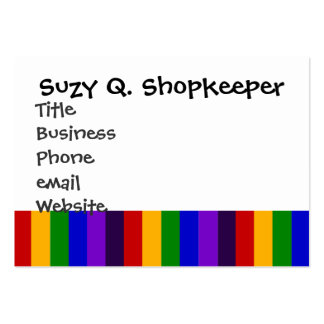 Classic Rainbow Vertical Stripes Colorful Gifts Business Card Template