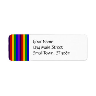 Classic Rainbow Vertical Stripes Colorful Gifts Label