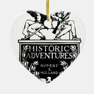 Classic Rare Vintage Book Cover Design - Historic Ceramic Ornament