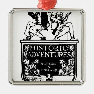 Classic Rare Vintage Book Cover Design - Historic Metal Ornament