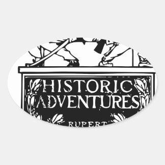 Classic Rare Vintage Book Cover Design - Historic Oval Sticker