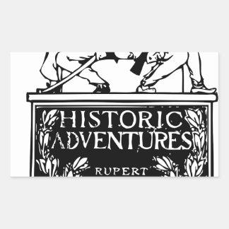 Classic Rare Vintage Book Cover Design - Historic Rectangular Sticker