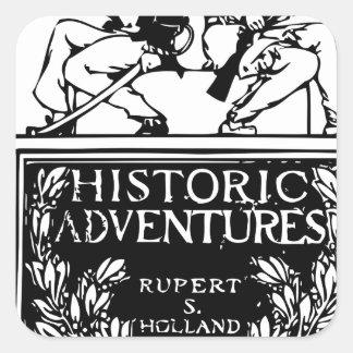 Classic Rare Vintage Book Cover Design - Historic Square Sticker