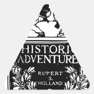 Classic Rare Vintage Book Cover Design - Historic Triangle Sticker