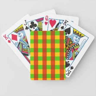 Classic Rasta Gingham Pattern Bicycle Playing Cards