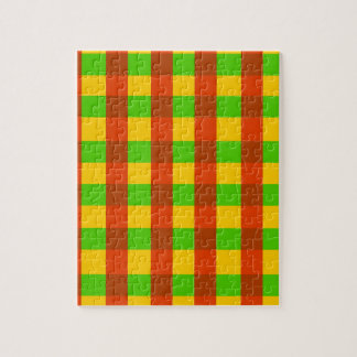 Classic Rasta Gingham Pattern Jigsaw Puzzle
