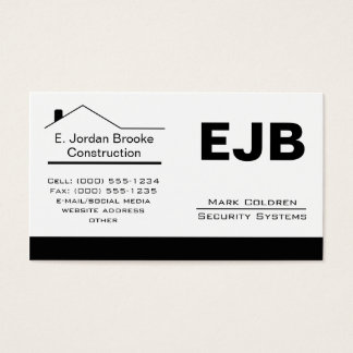 Classic Realtor-Construction-Handyman 1b Business Card