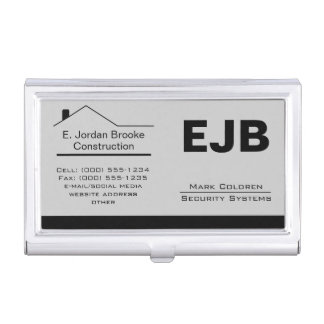 Classic Realtor-Construction-Handyman 1c Case For Business Cards