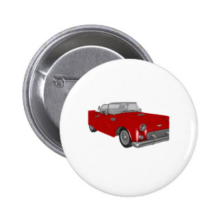 Classic Red 50's Car Button