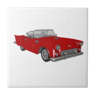 Classic Red 50's Car Ceramic Tile