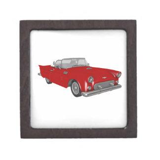 Classic Red 50's Car Keepsake Box