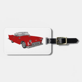 Classic Red 50's Car Luggage Tag