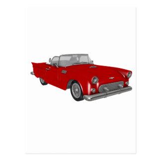 Classic Red 50's Car Postcard