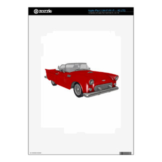 Classic Red 50's Car Skins For iPad 3