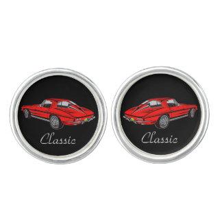 Classic Red '63 Corvette Design Cuff Links