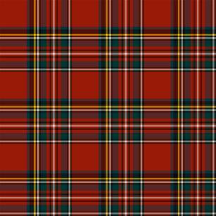 Classic Red And Blue Royal Stewart Tartan Shower Curtain