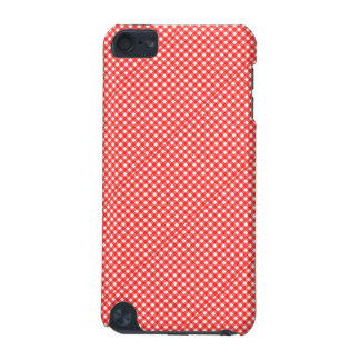 Classic Red and White Checkered Squares Pattern iPod Touch (5th Generation) Cover