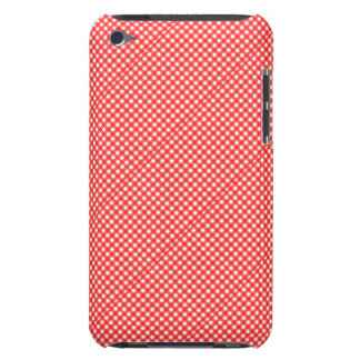 Classic Red and White Checkered Squares Pattern Barely There iPod Covers