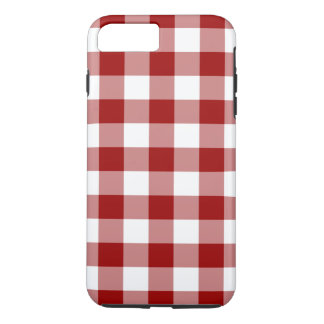Classic Red and White Gingham Plaid iPhone 7 Plus Case