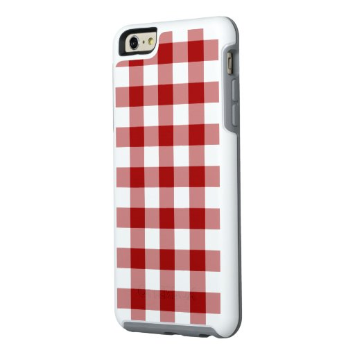 Classic Red and White Gingham Plaid OtterBox iPhone 6/6s Plus Case
