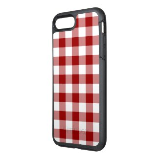 Classic Red and White Gingham Plaid