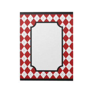 Classic Red Argyle Notepad