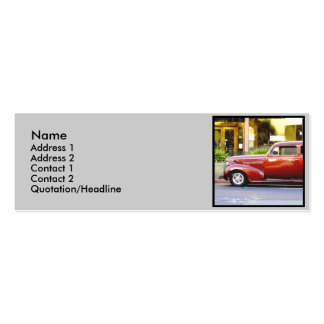 Classic Red Car Business Card Templates