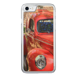 Classic Red Car Carved iPhone 7 Case