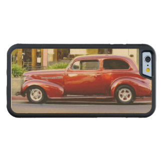Classic Red Car Carved® Maple iPhone 6 Bumper Case