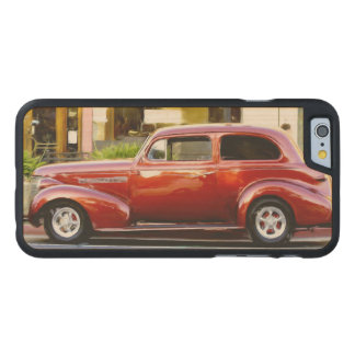Classic Red Car Carved® Maple iPhone 6 Case