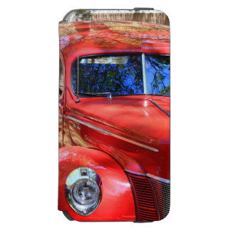 Classic Red Car iPhone 6/6s Wallet Case