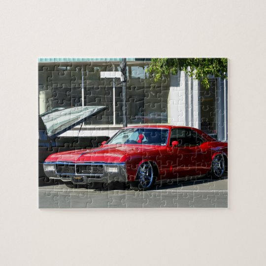 Classic red car jigsaw puzzle