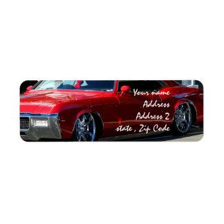 Classic red car label