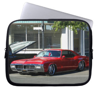 Classic red car laptop computer sleeves
