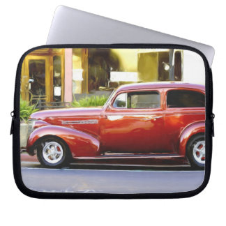 Classic red car laptop sleeves