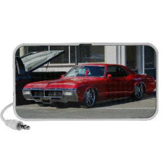 Classic red car laptop speakers