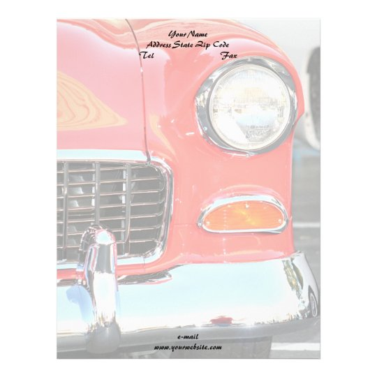 Classic red car letterhead