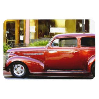 Classic red car magnet