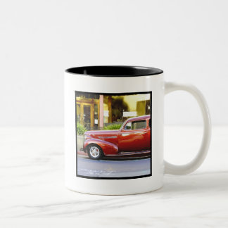 Classic red car mug