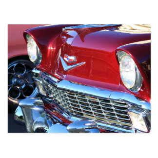 Classic Red Car Postcard