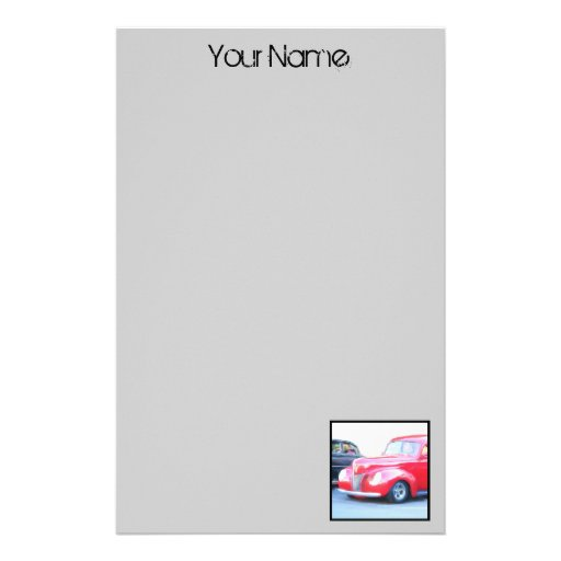 Classic Red Car stationary Stationery